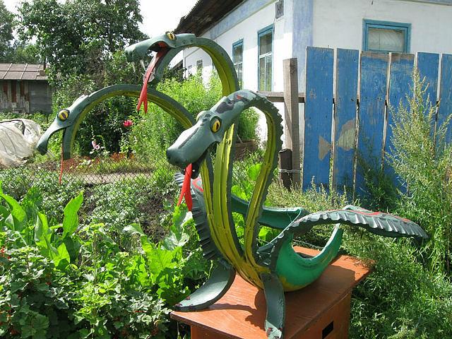 Поделки для сада из покрышек своими руками фото
