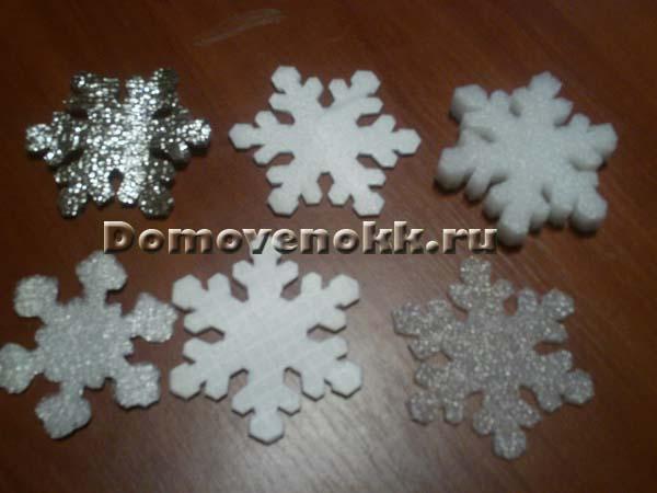 Снежинки на люстру своими руками