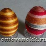 Еще один вариант украшения пасхальных яиц своими руками