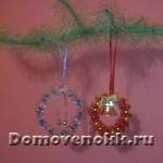 Новогодние игрушки своими руками – веночек на елку
