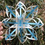 Как сделать объемную снежинку из бумаги