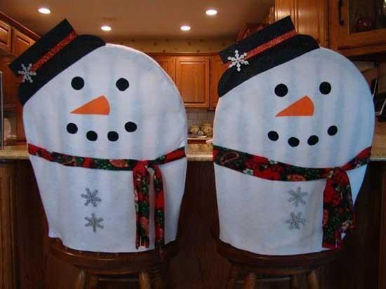 Чехлы на стулья новогодние своими руками