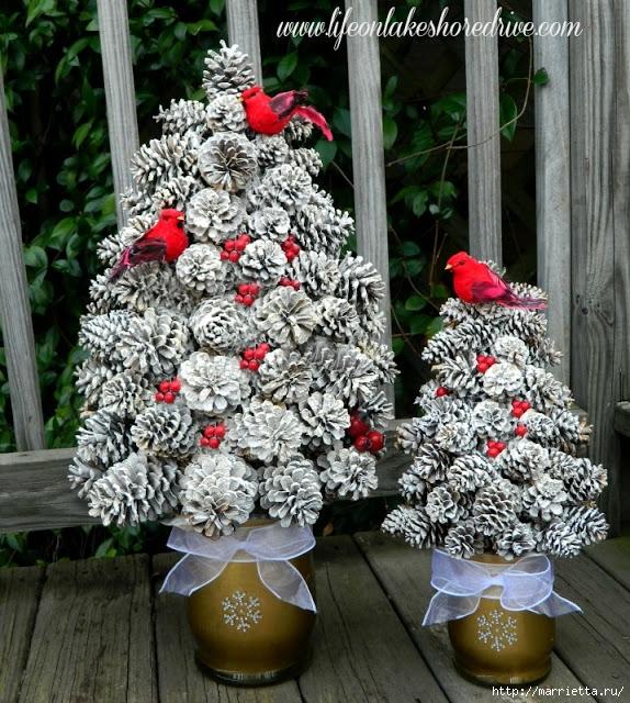 Новогодняя елка своими руками из ленточек