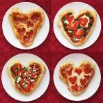 Разные блюда в виде сердца