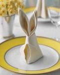 кролик из салфетки