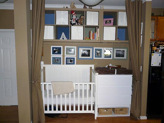 Как сделать уголок для новорожденного в однокомнатной квартире