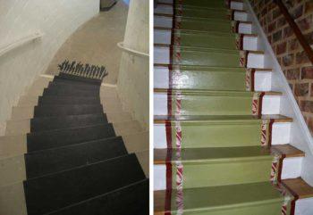 имитация ковра на лестнице