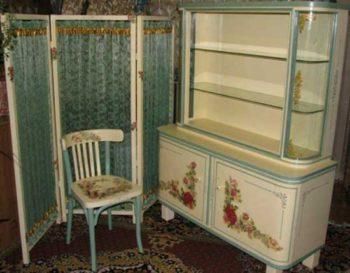 обновление мебели декупажем