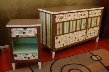 обновление мебели обоями