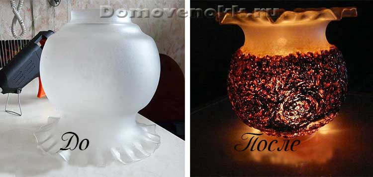 Как сделать светильник из старой люстры