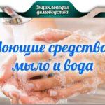 Моющие средства – мыло и вода