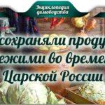 Как сохраняли продукты свежими во времена Царской России