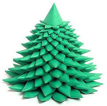 елка бумажная