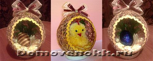 Пасхальное яйцо из ниток своими руками