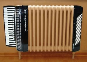 как украсить старую батарею