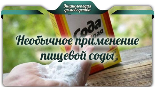Необычное применение пищевой соды дома