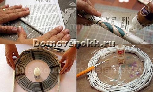 как сделать основу для венка своими руками