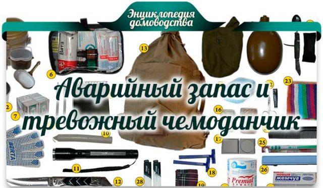 Аварийный запас и тревожный чемоданчик