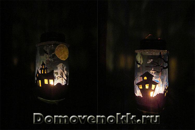 как сделать фонарь на Хэллоуин