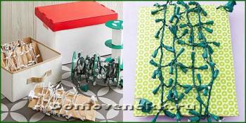 хранение новогодней гирлянды