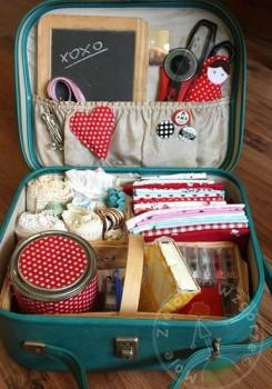как использовать старый чемодан
