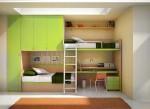 двухъярусная кровать + стол шкаф