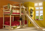 двухъярусная кровать + спортивный уголок