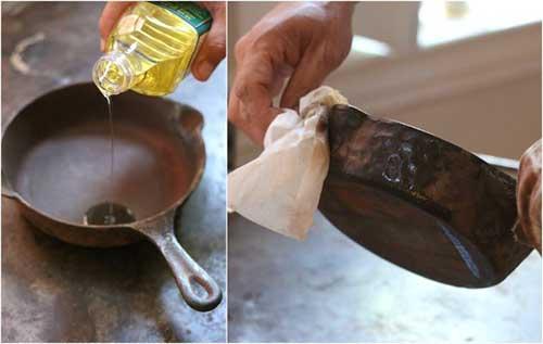 как удалить ржавчину с чугунной сковороды