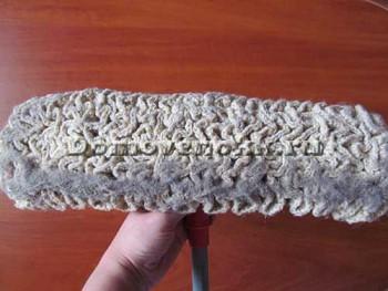 вязаная насадка для швабры
