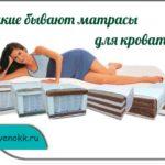 Какие бывают матрасы для кроватей
