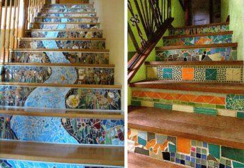 кафельная плитка для лестницы