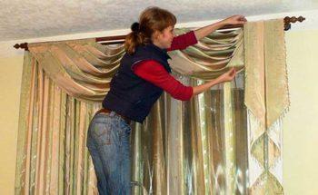 новые шторы в съемной квартире