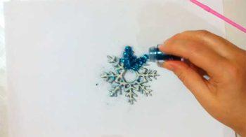как сделать снежинку на Новый год