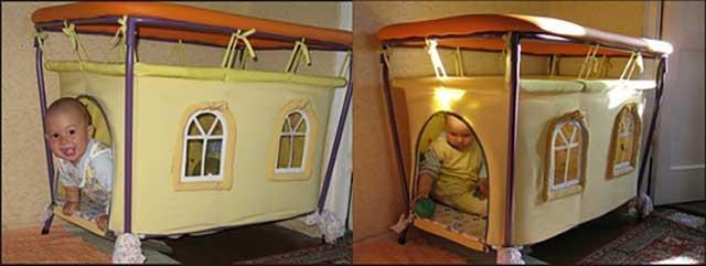 Манеж-домик для ребёнка